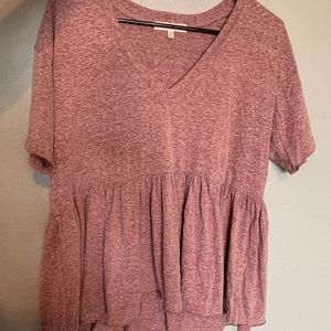 Truly Madly Deeply maroon flowy top